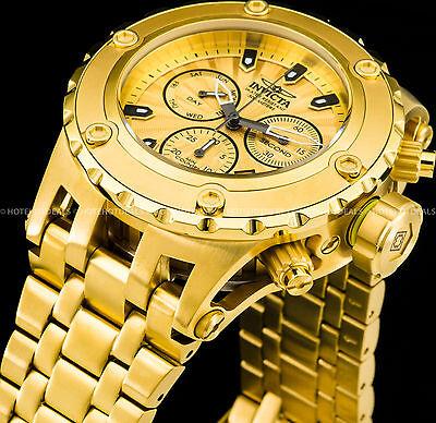 Invicta 52mm Men's Subaqua Swiss Ronda Z60 Chronograph Gold Plated SS 500M Watch