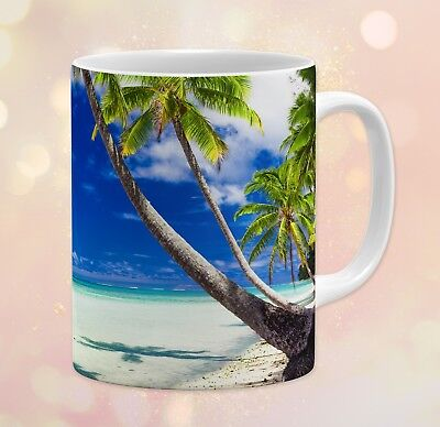 Nature ~ Sea Shore, Clear Water, Deep Blue Sky, Gift ~ 11 oz Ceramic Coffee - Mugs Clearwater