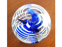 Neo Art Glass handcrafted red strawberry paperweights sculptures signed K.Heaton