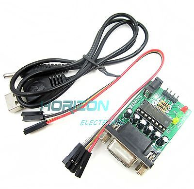 2pcs Rs232 To Ttl Converter Com Serial Board Max232cpe Transfer Chip Atmega16