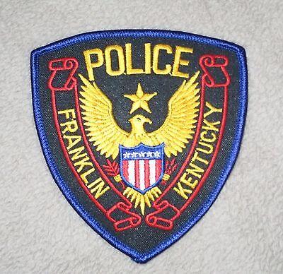 """Franklin Police Patch - Kentucky - 4"""" x 4 1/2"""""""