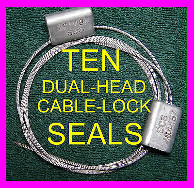 Dual-head 50-inch Long Cable-lock Security Seals Ten Seals Hard To Find Seal