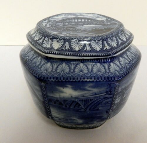 Rington Tea Jar Caddy Maling Ware England Bridges Design Ca.1929