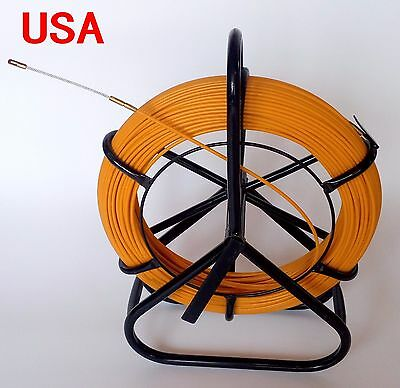 Rod Cable - FISH TAPE FIBERGLASS WIRE CABLE DUCT RODDER FISH HOLDER PUSH ROD DUCT 4.5mm