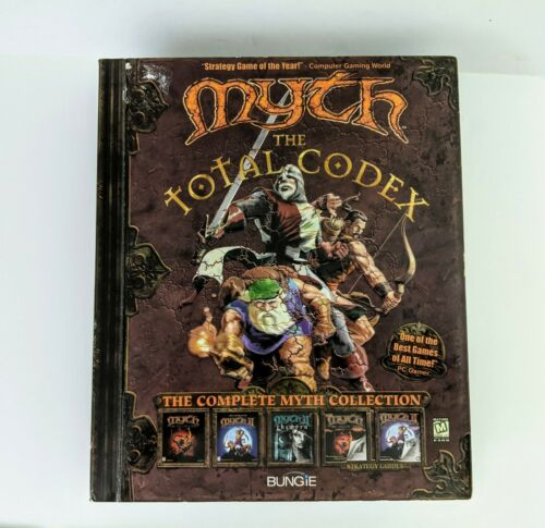 Computer Games - Myth The Total Codex PC MacOS Computer Game 3 CD Set w/ Original Manual BIG BOX