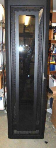 "ELECTRORACK 44U 19"" RACK SERVER CABINET W/ POWER STRIP  & GLASS DOOR USED"