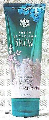 Bath & Body Works ~ FRESH SPARKLING SNOW ~ Ultra Shea Body Cream / Lotion 8 oz.