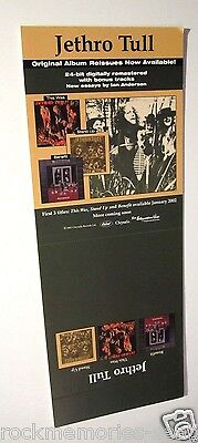 Jethro Tull 2002 Promo Record Store Stand up Display Counter Bin