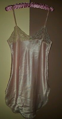 Brand New Victoria's Secret Satin Pink Lingerie with Lace Small