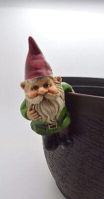 Garden Gnome Pot Hanger Red Hat Green Shirt  4
