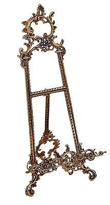 Tripod photo frame flat panel brass baroque 40 cm