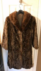 100% REAL MINK FUR COAT - NEW CONDITION - RARE & LUXURIOUS
