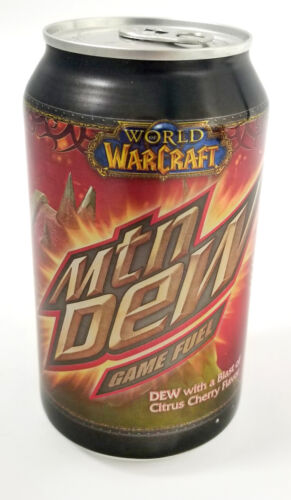 Mountain Dew Game Fuel Unopened Full Can - 2009 World of Warcraft Citrus Cherry