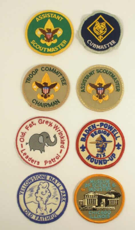 Vintage BSA Boy Scout group of eight patches