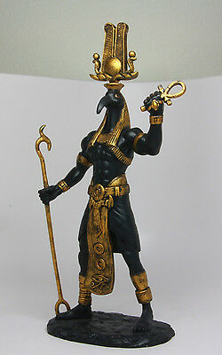 """Ancient Egyptian God of Techonology Thoth Figurine Statue 12"""" Height Black Gold"""