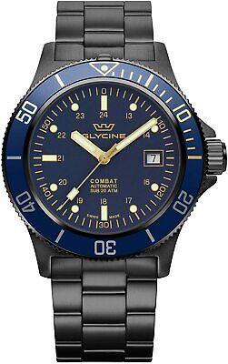 Glycine GL0295 Men's Combat Sub 42 Automatic 42mm Black PVD Watch