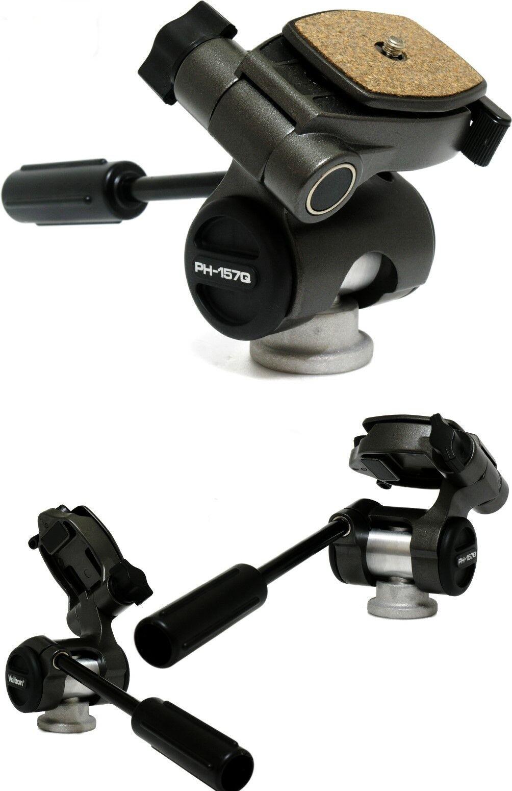 Velbon PH157-Q Pan Head 3-way with Quick Release Platform 1/4 Tripod fitting