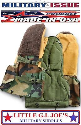 NEW US Military Issue Woodland Camo Arctic Mittens Extreme Cold Weather Gloves M Extreme Cold Weather Gloves