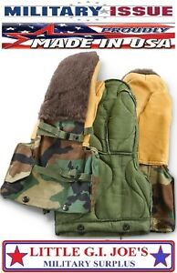 NEW US Military Issue Woodland Camo Arctic Mittens Extreme Cold Weather Gloves M