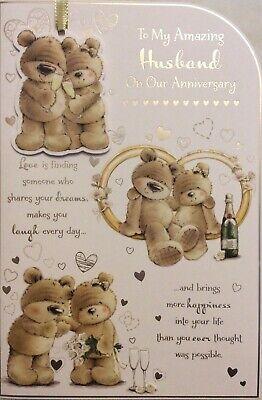 HUSBAND CUTE WEDDING ANNIVERSARY CARD