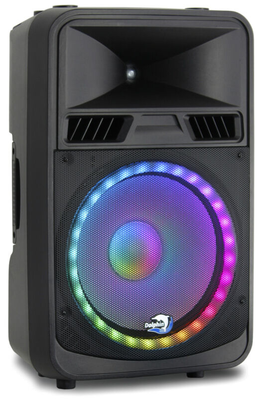 Dolphin SPX-180BT ELITE Series 15 Inch DJ Party Speaker with RAVE™ Light