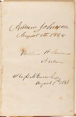 1868 PRESIDENT ANDREW JOHNSON & CABINET & 40TH CONGRESS AUTOGRAPH ALBUM GARFIELD