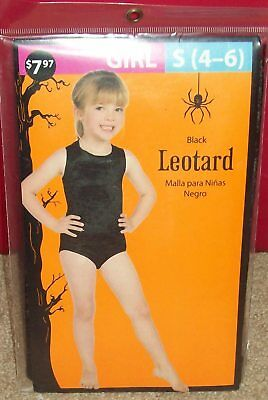 Halloween Girls Leotard Black Size S (4-6)  Novelty Only Dress Up Costume etc - Black Leotard Halloween Costumes