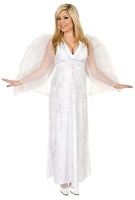 Angel Baby White Gown Christmas Dress Up Halloween Sexy Adult - Angel Dress Up Kostüm