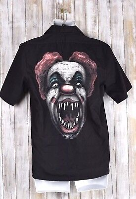 SPIRIT HALLOWEEN Adult Shirt Killer Clown Slaughter In Laugh Size Medium](Killer In Halloween)