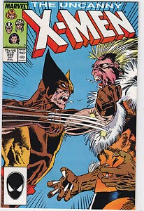 Uncanny-X-Men-222-VF-Wolverine-vs-Sabretooth-1987-Marvel-FREE-USA-SHIP