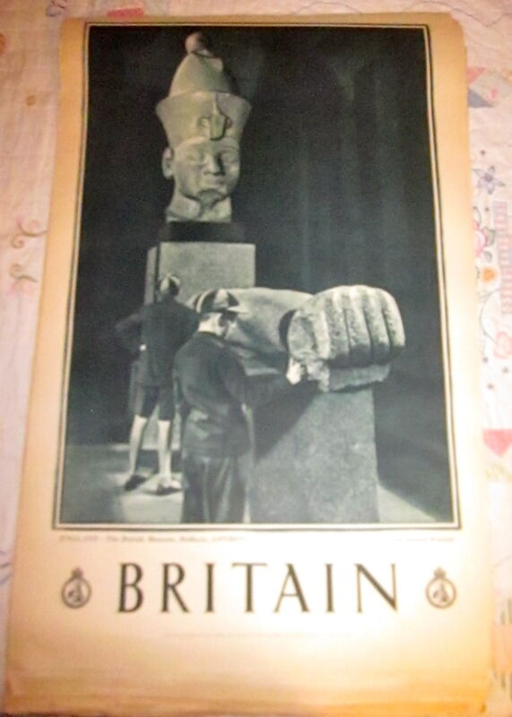 1930s Great Britain Travel Assn Poster ENGLAND-British Museum, Holborn, London