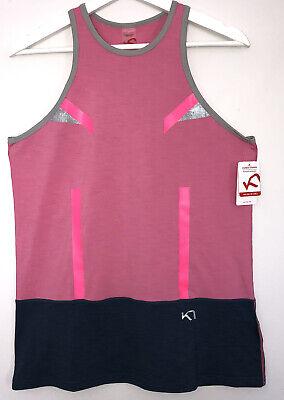 Kari Traa Anita Top Womens Sleeveless T Shirt Size Xl Activewear Pink Brand New