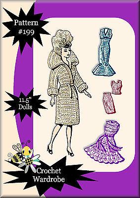 Newspaper Mail Order Crochet Pattern #199 Made For Vintage Barbie