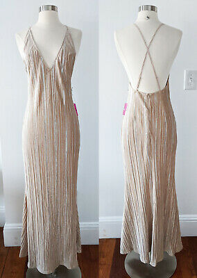 Champagne Gold Nude Dress SMALL 1920s 1930s Great Gatsby Party Flapper Hollywood