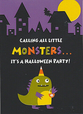 LITTLE MONSTERS Halloween Party Invitation Invites Hallmark Cute Kids Fun NEW - Kids Halloween Invitation