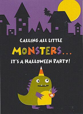 LITTLE MONSTERS Halloween Party Invitation Invites Hallmark Cute Kids Fun NEW - Fun Halloween Invitations