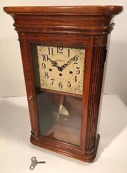 """Howard Miller Wall Mantle 8-Day Clock Westminster Chime 613-108 Sandringham 24"""""""