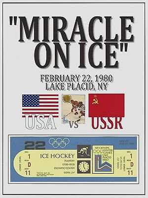 MIRACLE ON ICE 1980 USA Ice Hockey team vs USSR REPRODUCTION/REPLICA TICKET