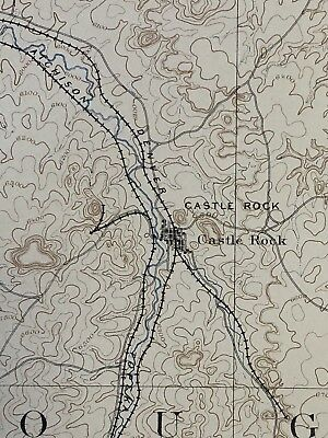 1898 Colorado Castle Rock Sheet Larkspur Survey Topographical Map