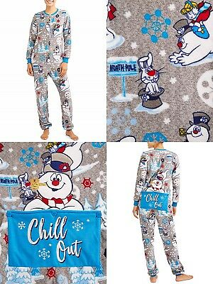 a05b6bc2f1 ... All In One Hooded Jumpsuit Sizes S- 5XL. Frosty the Snowman Onesie  Pajamas Women One Piece Union Suit Men Small Large NEW - Men