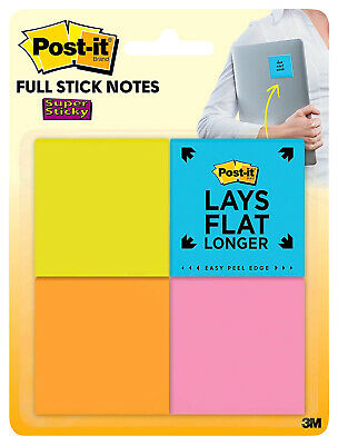 Post-it Full Adhesive Super Sticky Notes 2 X 2 Inches Rio De Janeiro Colors