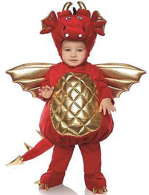 Underwraps Drachen Junge Kleinkind Rot Bauch Baby Kostüm Gr. M 18/24M