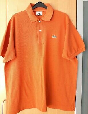 Mens Orange Lacoste Polo Shirt Size 5
