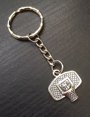 Silver Tone Basketball Keyring, Keychain, Sports Gift