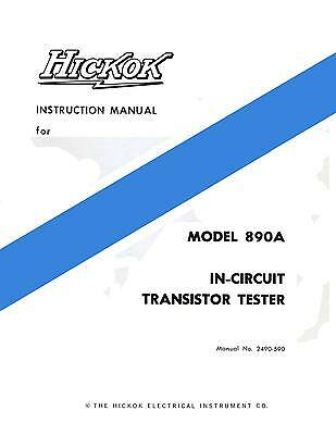 Hickok 890a In-circuit Transistor Tester Manual