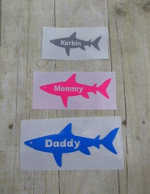 DIY Iron On Personalized Shark Design Make Shark Family Tees Pick size and color
