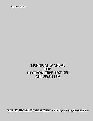 Hickok Anusm-118a Cardmatic Manual Navships 93883