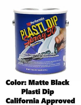 Performix Plasti Dip Spray 50 Matte Black Gallon Low Voc California Ca Free Sh
