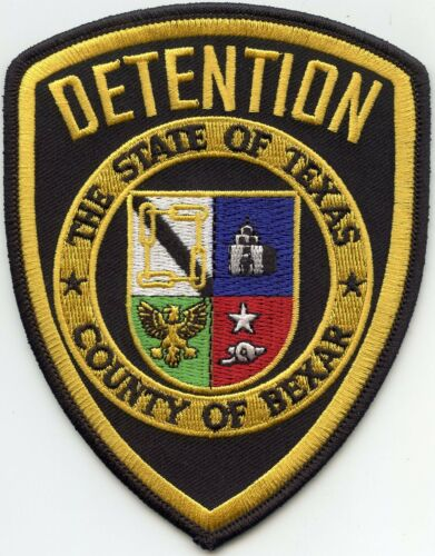 BEXAR COUNTY TEXAS TX black DETENTION DOC CORRECTIONS SHERIFF POLICE PATCH