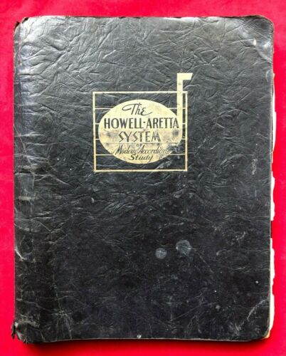 1935 Howell-Aretta System Modern Accordion Study Binder Sheet Music Incomplete
